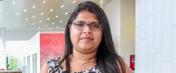 Kiran Nihlani poses for a photo portrait